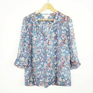 UO Staring at Stars Floral Blouse   M